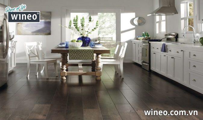 Sàn gỗ công nghiệp có khả năng chịu nước tốt