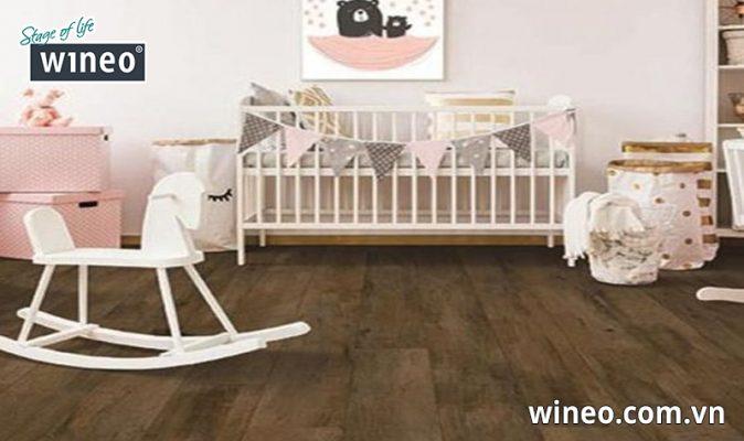 Sàn gỗ Đức an toàn cho sức khỏe người sử dụng, phù hợp lắp đặt cho gia đình có trẻ nhỏ