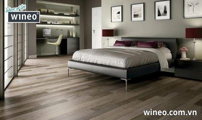 Lựa chọn màu sàn gỗ phòng ngủ tạo cảm giác dễ chịu