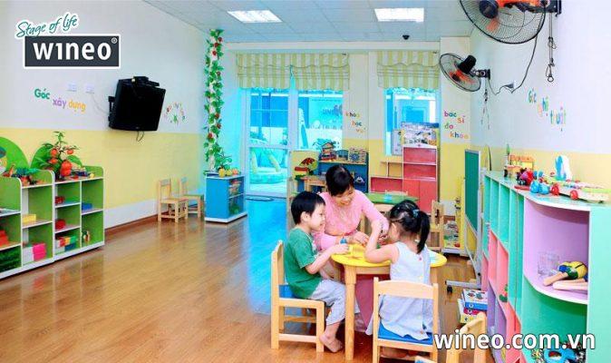 Sàn gỗ Wineo an toàn cho sức khỏe người sử dụng đặc biệt là trẻ nhỏ